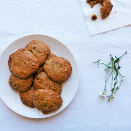 Biscuits pistache, citron vert