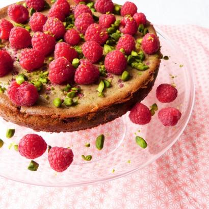 """Cheesecake"" framboise pistache"