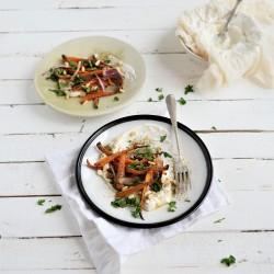 Carottes et oignon rouge rôtis au zaatar