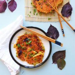 Crêpes japonaises aux légumes