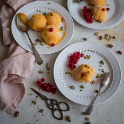 Sorbet abricot à la fleur d'oranger